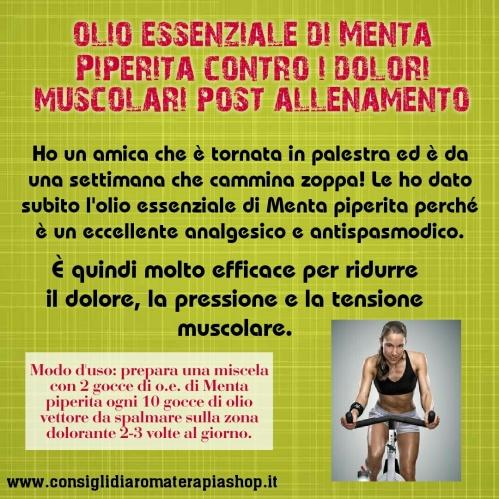 Oli essenziali contro dolori muscolari